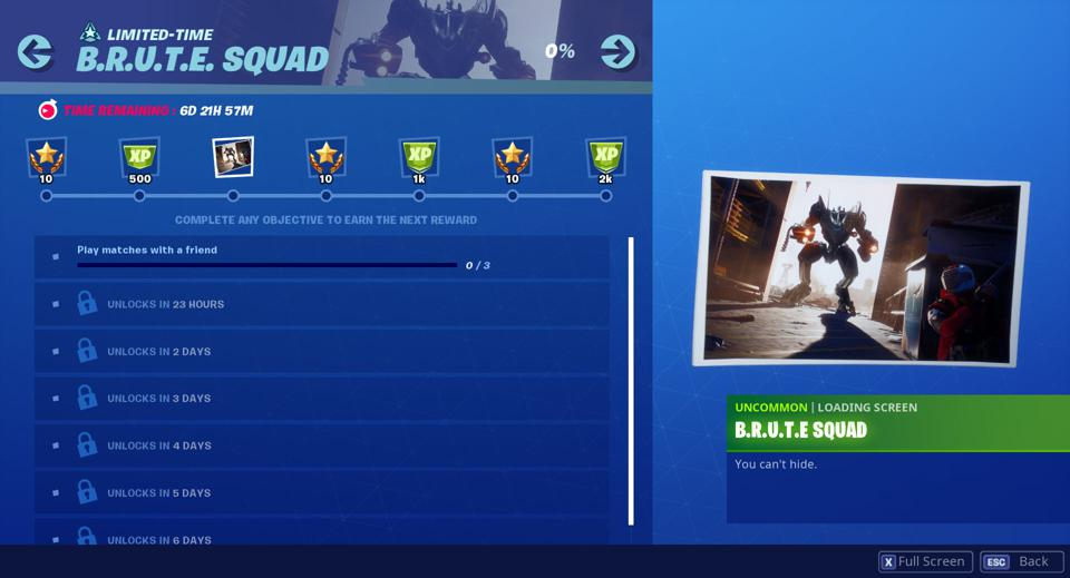 Fortnite's New Brute Squad Challenges Are Live Rewarding The