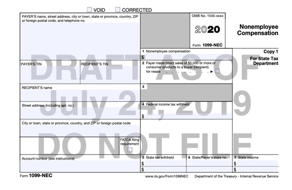 Draft 1099-NEC