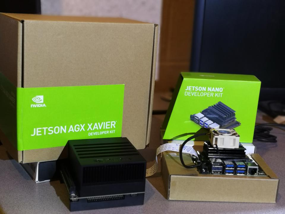 The Jeston developer kits offer a range of AI performance in very small form factors
