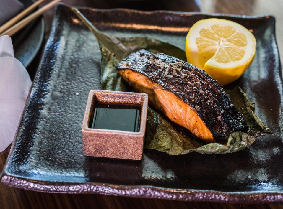 Robata salmon at Novikov Miami for Miami Spice