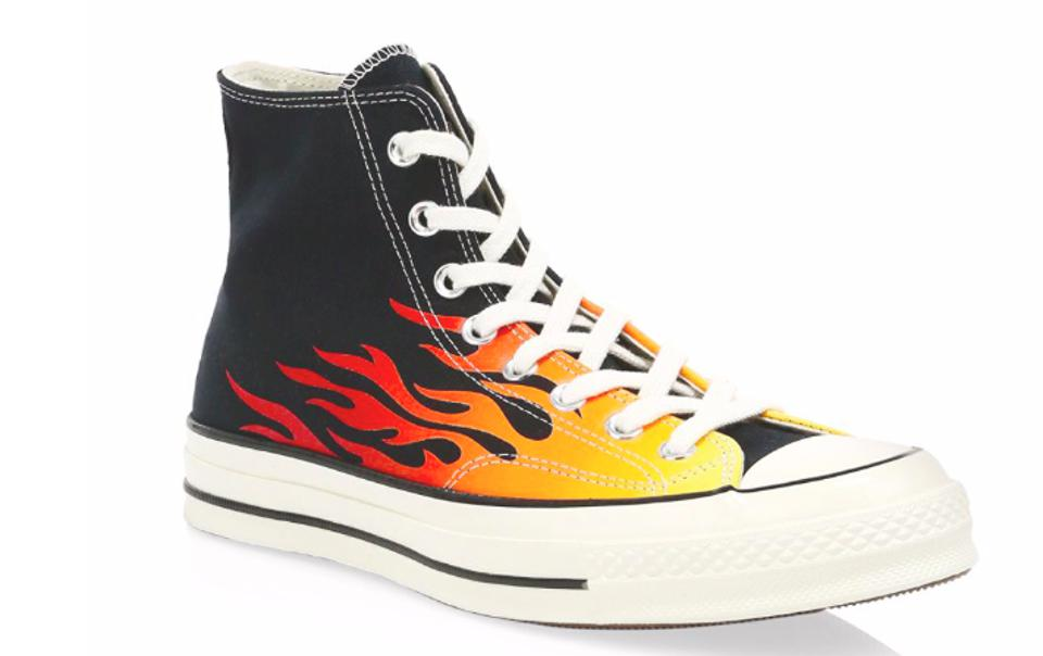 Converse Archive Prints Remixed Chuck 70 Hi Flame Print Sneakers