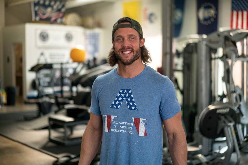 David Vobora in his gym.