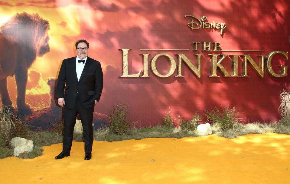 Jon Favreau attends the European Premiere of Disney's The...