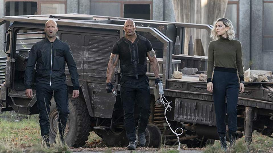 Jason Statham, Dwayne Johnson and Vanessa Kirby in 'Fast & Furious Presents: Hobbs & Shaw'