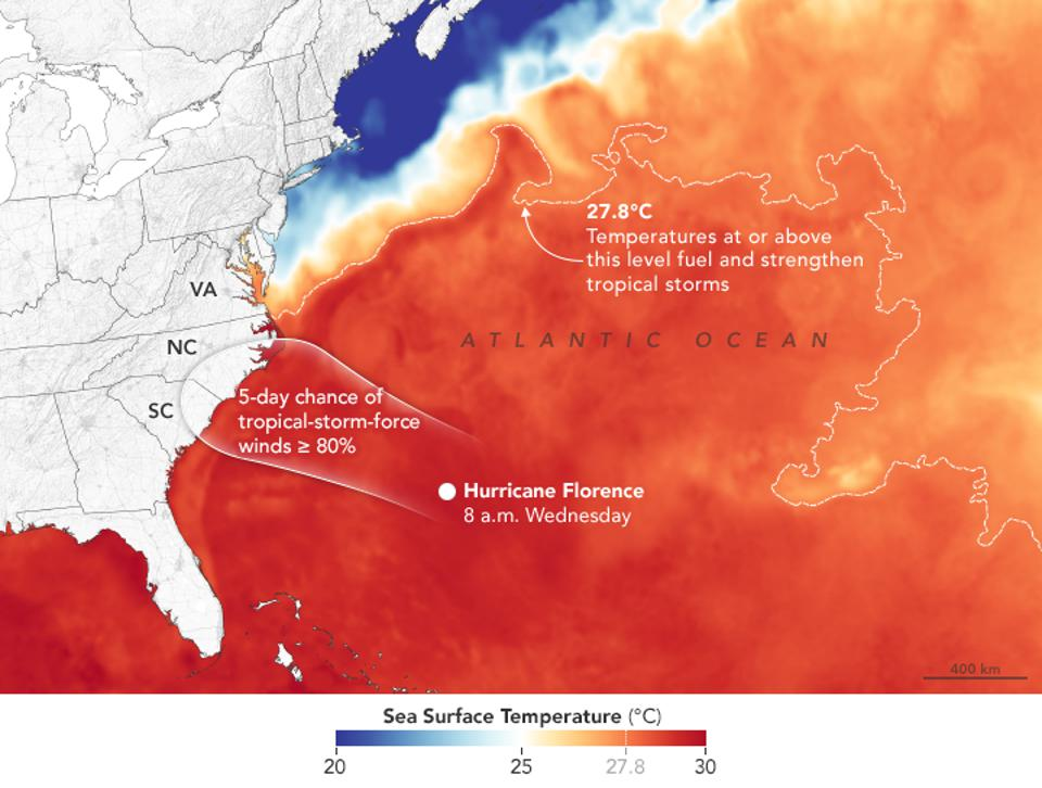 Gulf Stream and SSTs during Hurricane Florence.