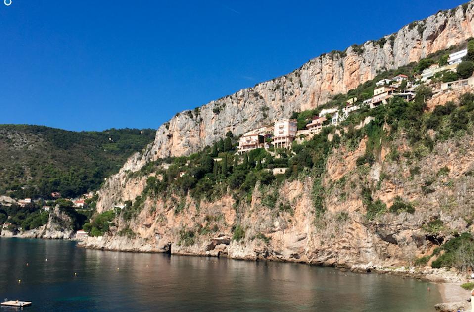 The cliffs of Plage de la Mala.