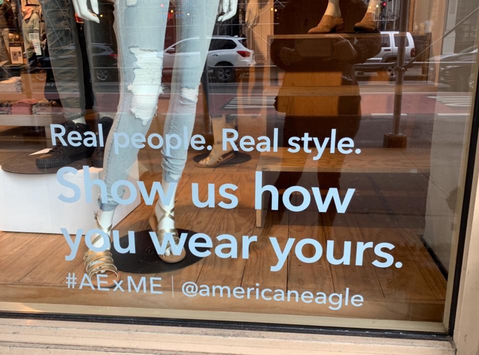 #AExME store window