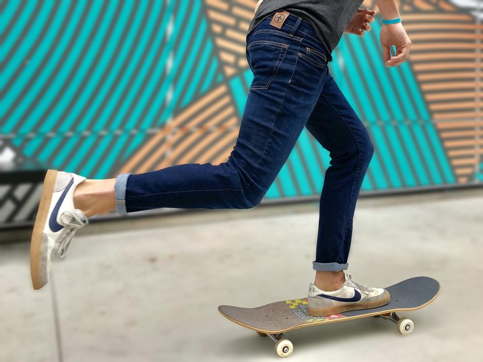 skateboard jeans