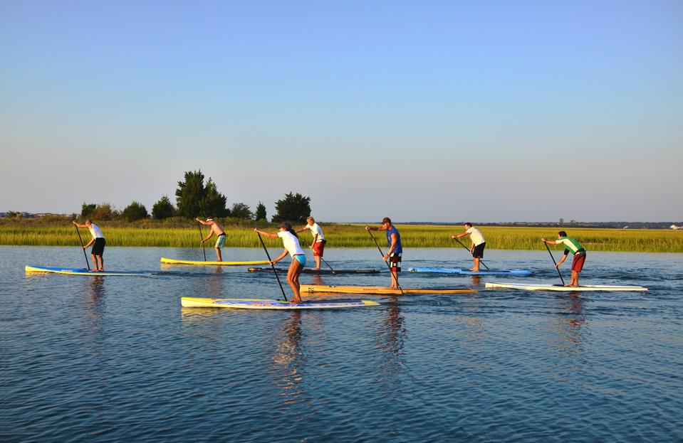 Ideal conditions for paddleboarding