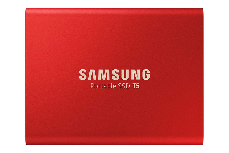 Hard Drives _Samsung T5 SSD 1TB RED