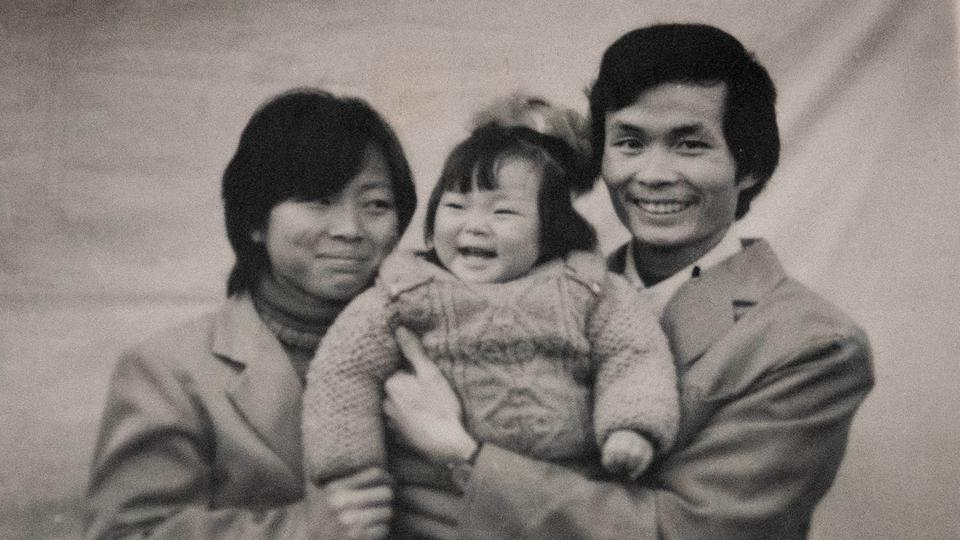 The filmmaker, Nanfu Wang, and her parents in 'One Child Nation.'