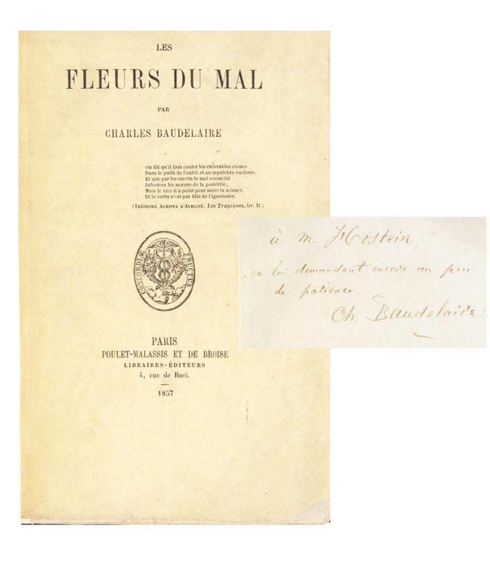 First Edition of Baudelaire's ″Les Fleurs du Mal″