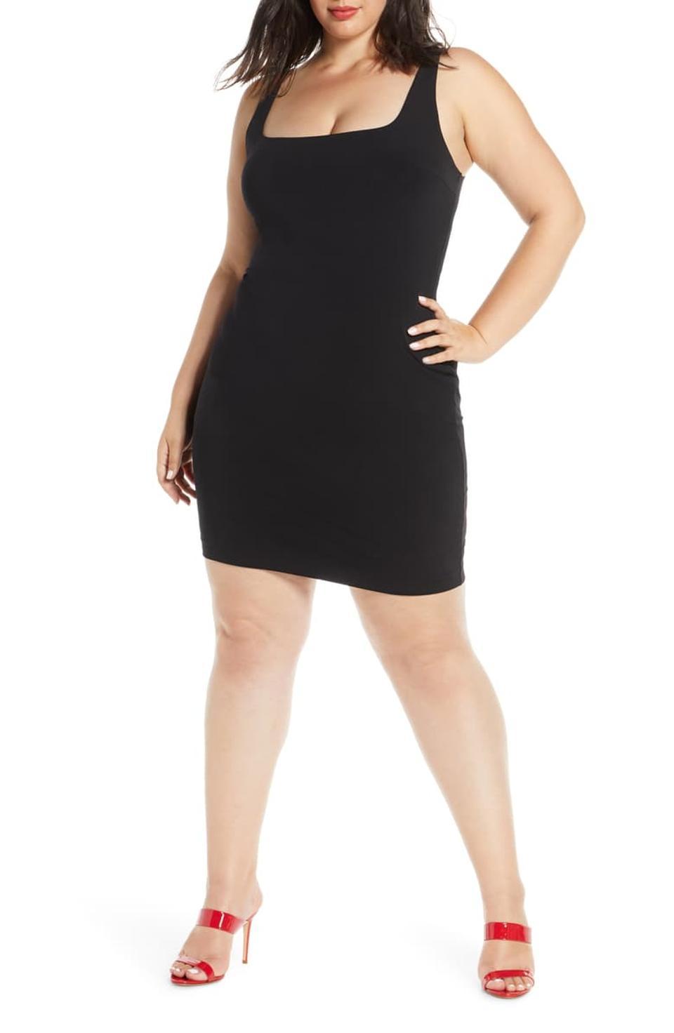 Leith Mini-robe à encolure carrée et moulante