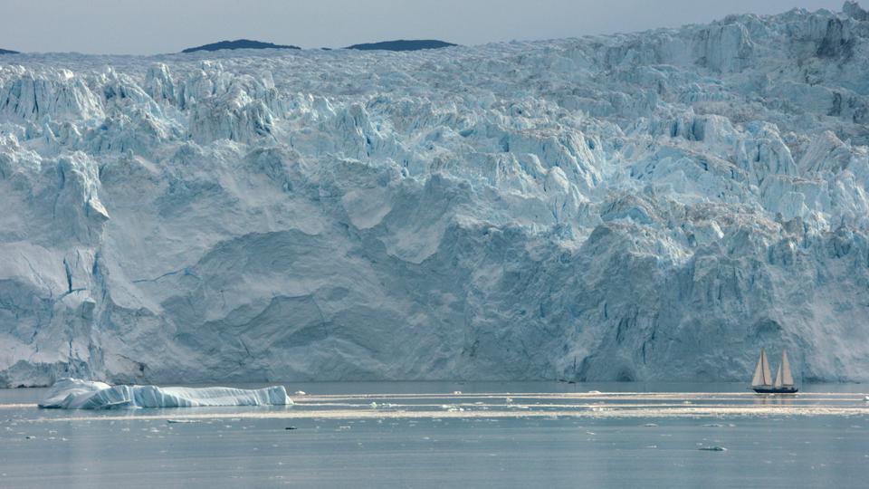 An iceberg in Greenland, as seen in AQUARELA