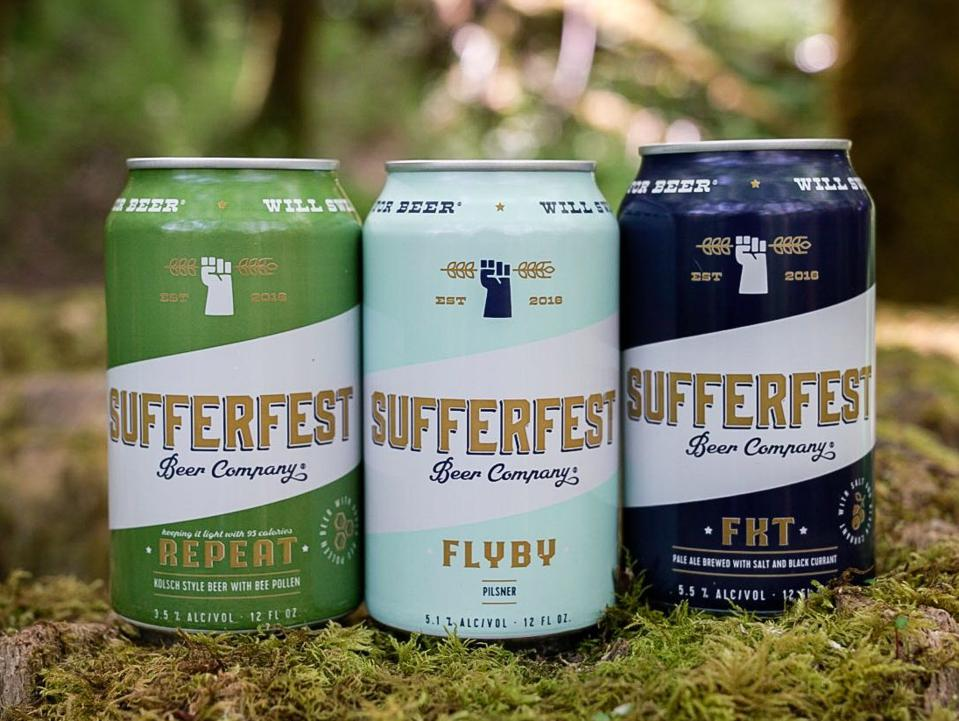 An array of brews from Sufferfest Beer Company.