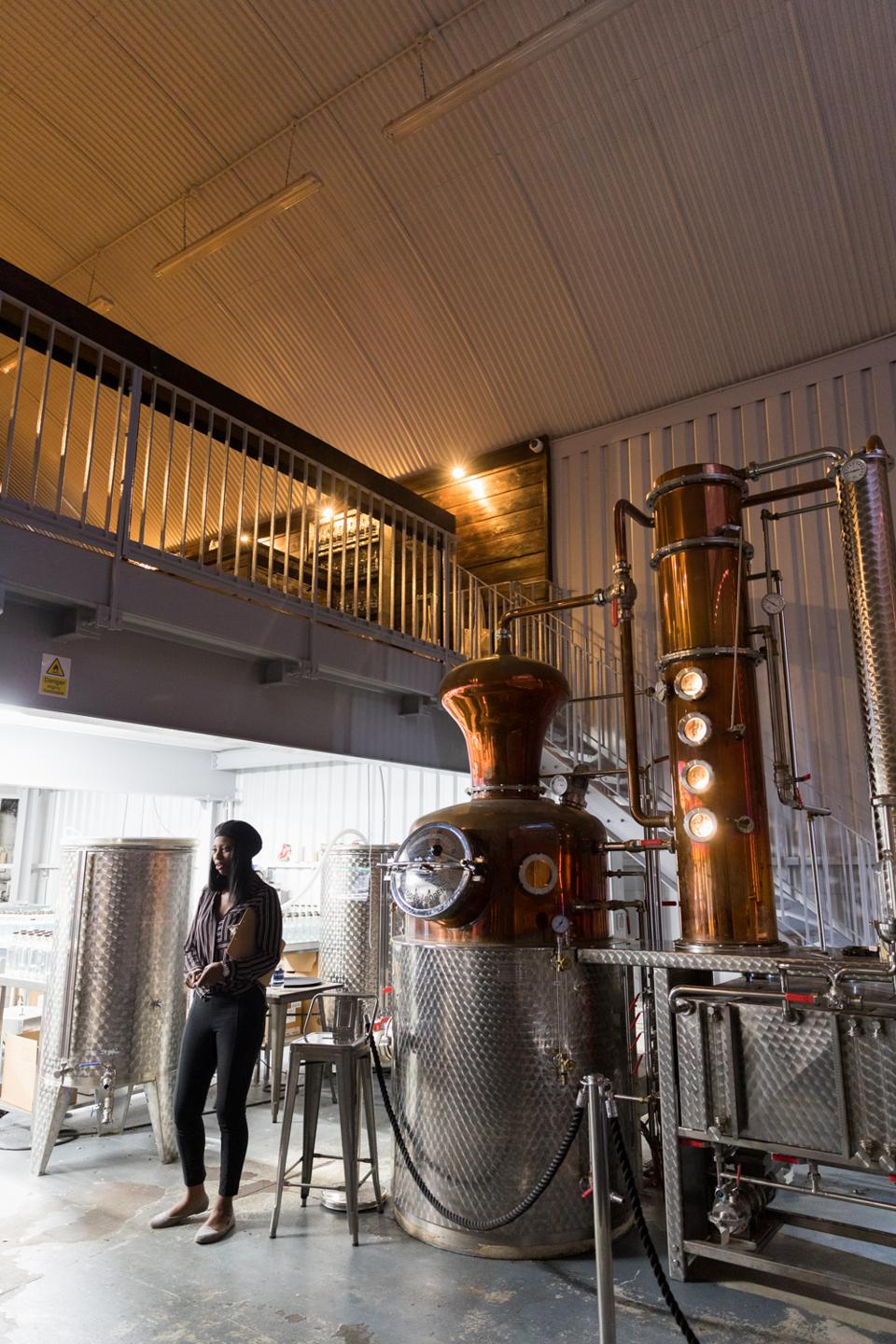 Each Gin Experience features a tour of their working production area