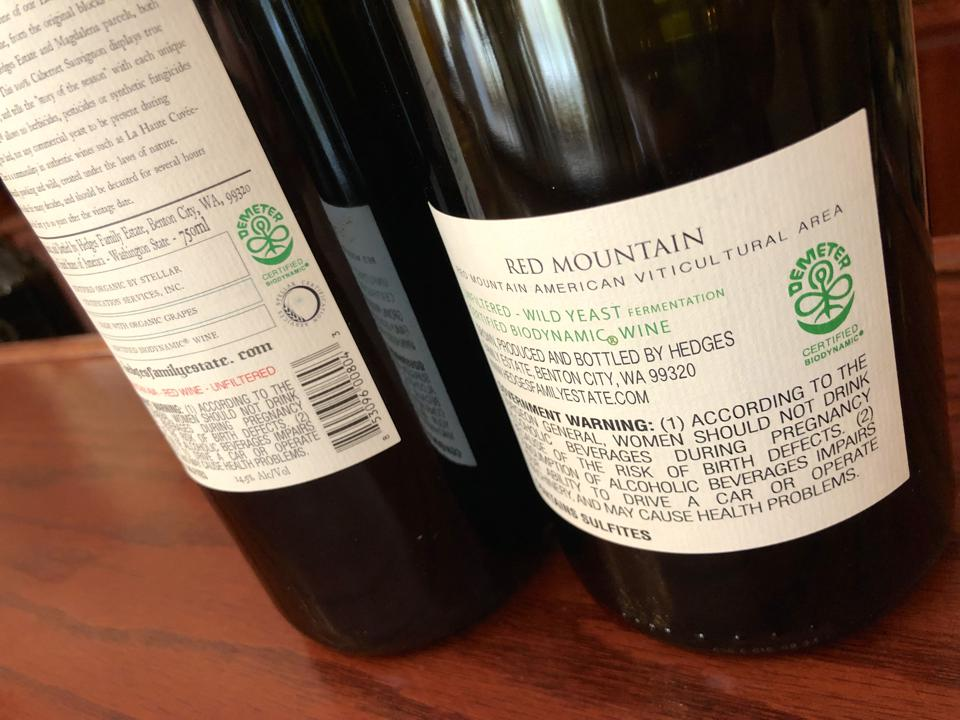 Hedges Family Estate wine is certified biodynamic by the Demeter Association.