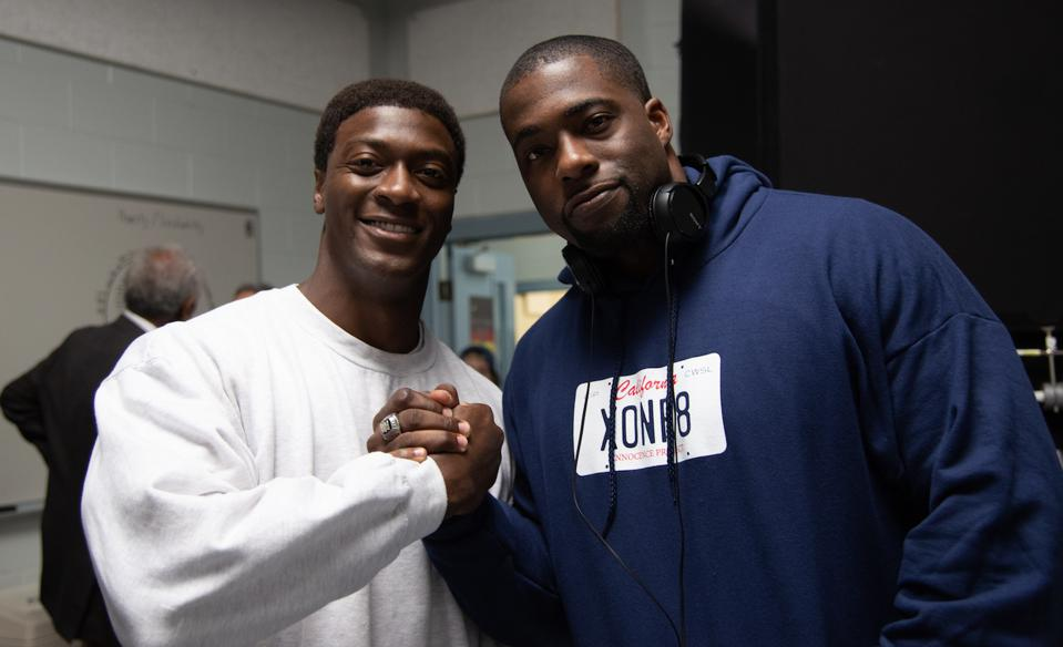 Aldis Hodge and Brian Banks