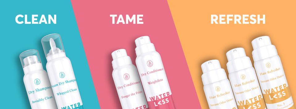 P&G Waterless Hair care brand