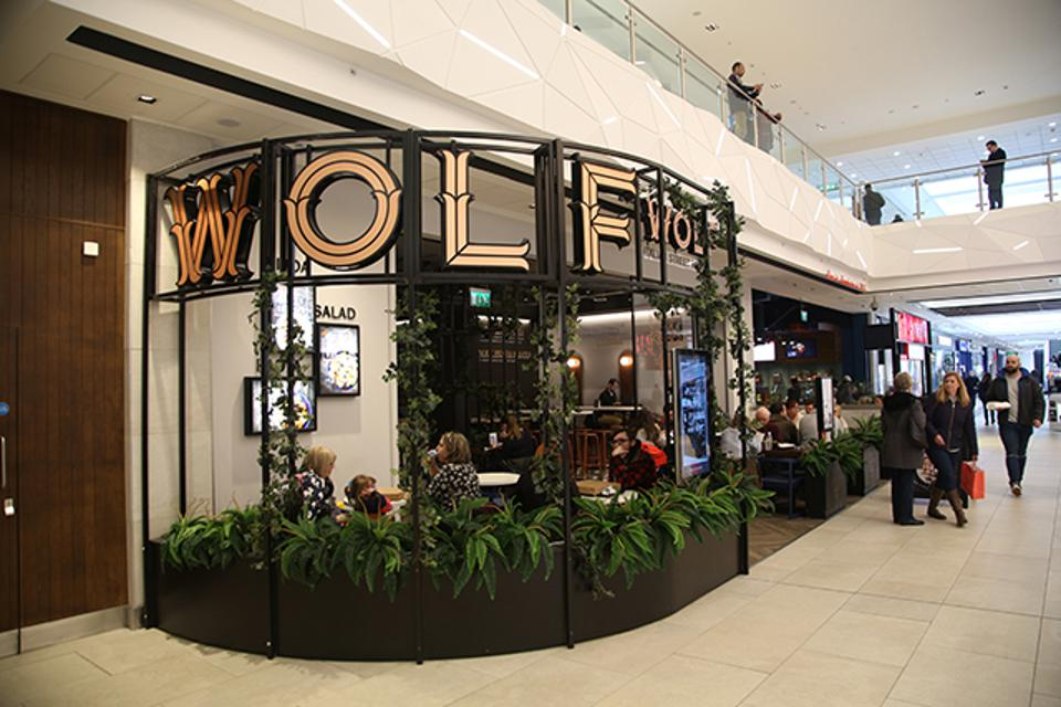 Wolf Italian Street Food store in a mall.