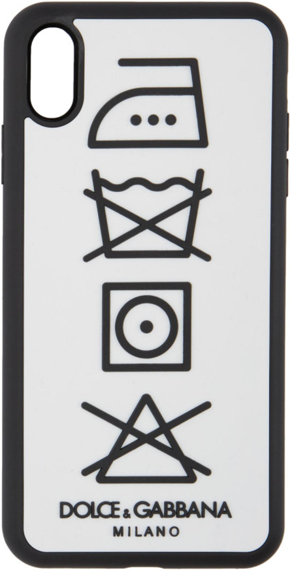 Dolce & Gabbana White Laundry iPhone XS Max Case