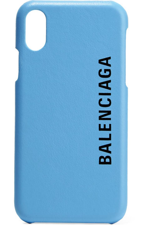 Balenciaga Printed Textured-Leather iPhone X Case