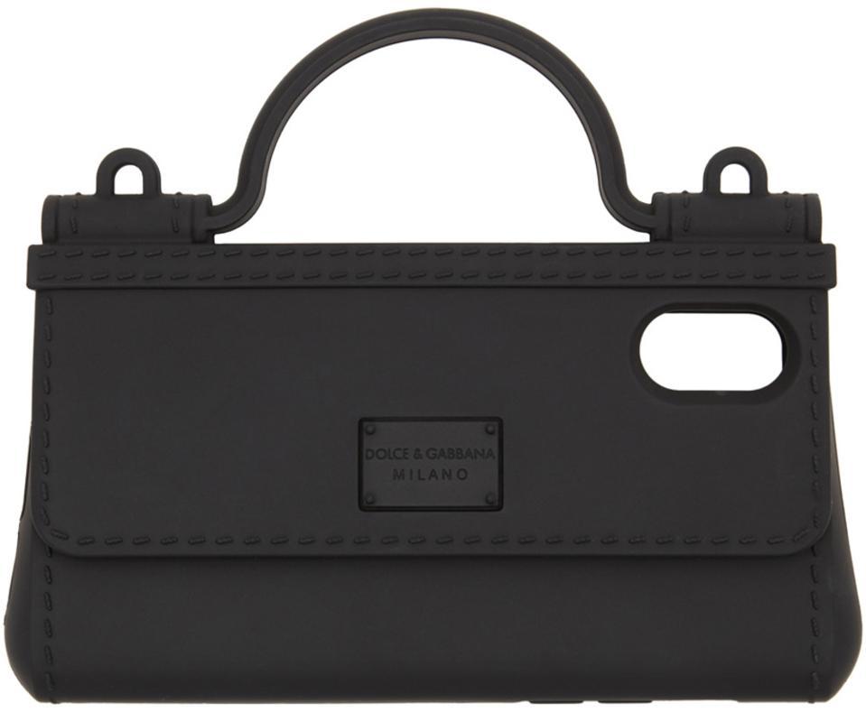 Dolce & Gabbana Black Bag Shape iPhone X Case