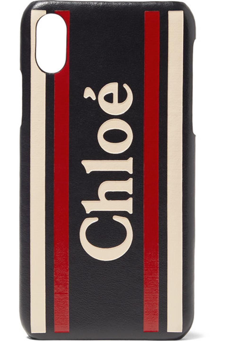 Chloé Printed Textured-Leather iPhone X/XS Case