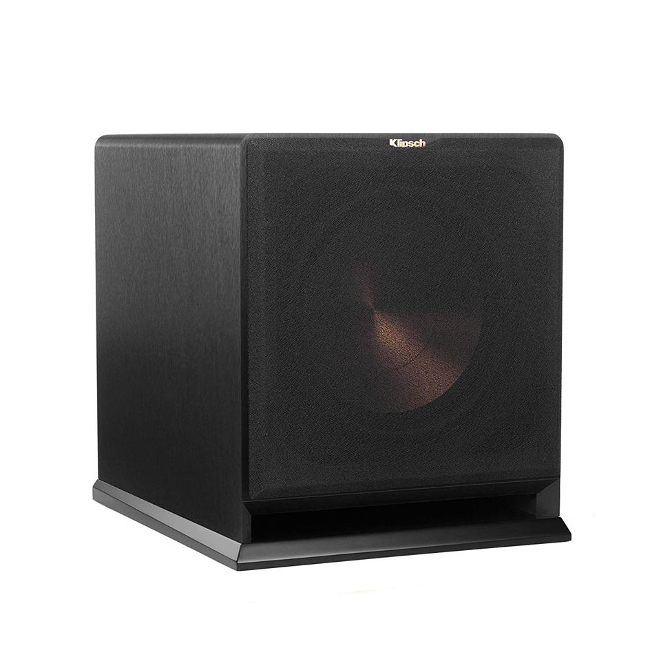 The Klipsch R-112SW features a 600-watt amplifier and a spun-copper driver that moves a lot of air.