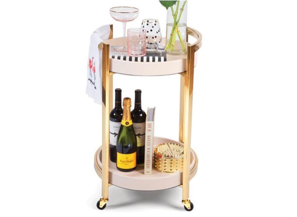 Mahler Round Bar Cart