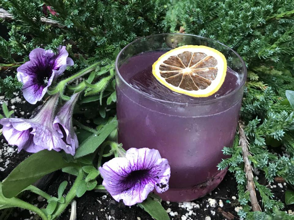 Purple Mirage cocktail at RedFarm