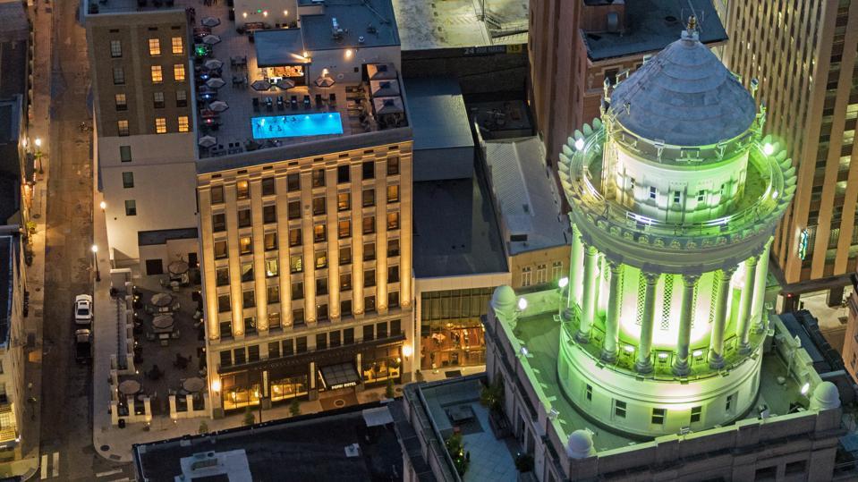 NOPSI Hotel aerial view.