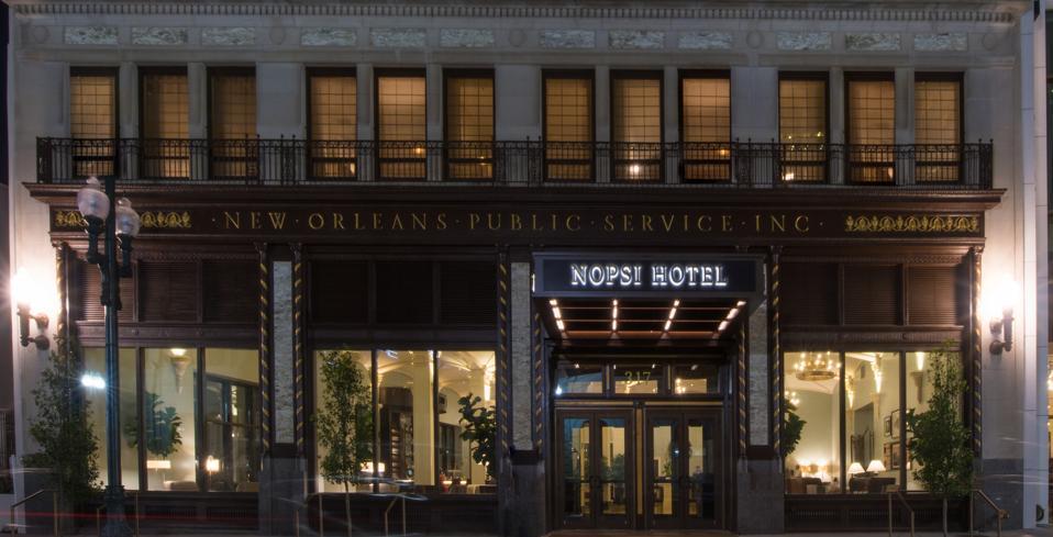 NOPSI Hotel facade.