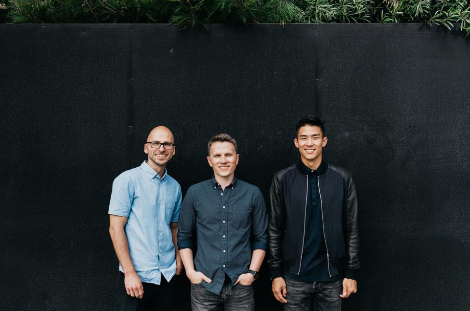 Webflow founders Sergei Magdalin, CEO Vlad Magdalin and Bryant Chou.