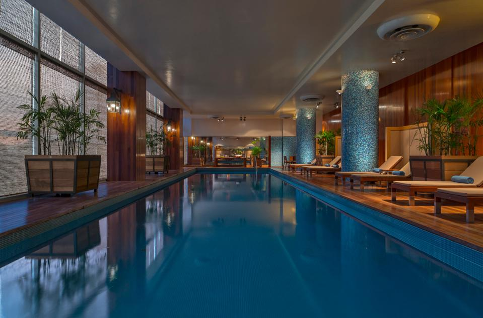 large pool in hotel