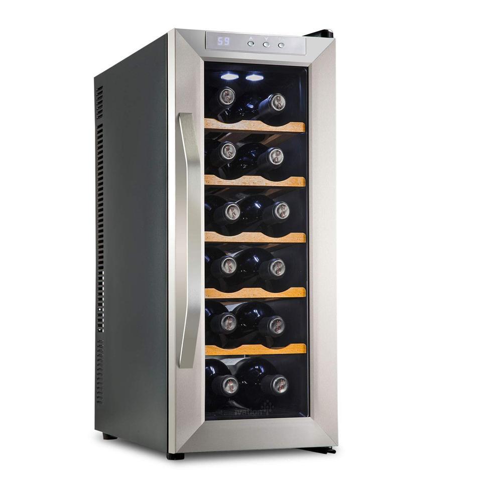 Ivation esmaklassiline roostevabast terasest 12 pudeli termoelektriline veinijahuti / jahuti