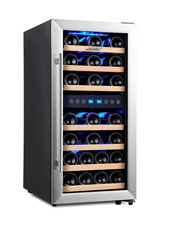 Phiestina Dual Zone Wine Cooler Refrigerator