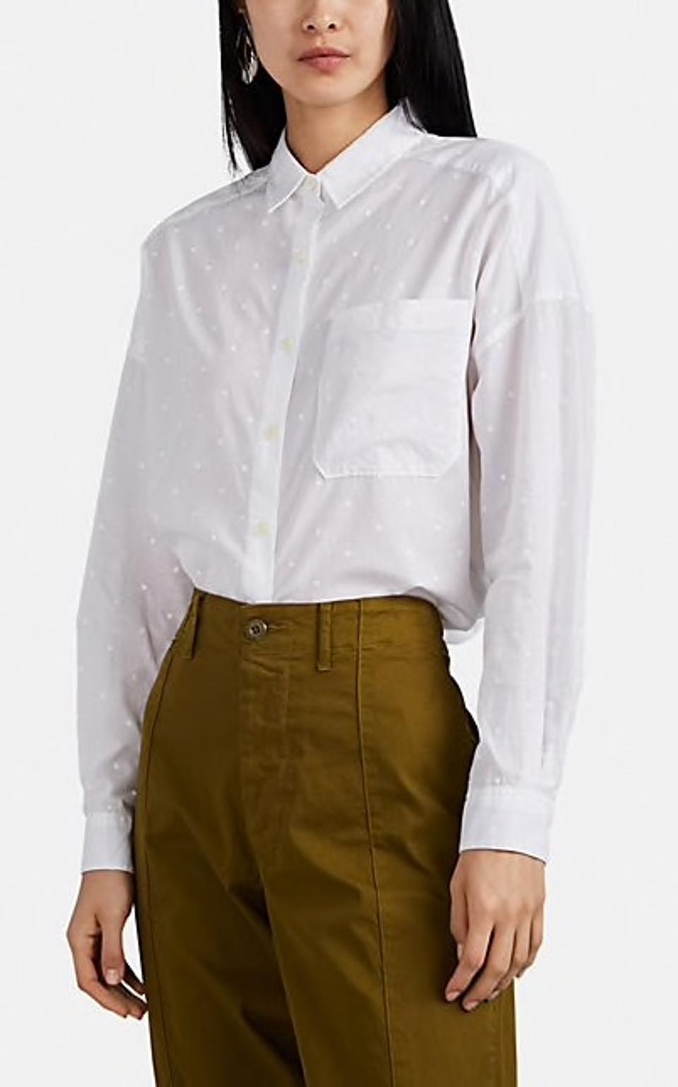 Alex Mill Polka Dot Cotton Voile Shirt