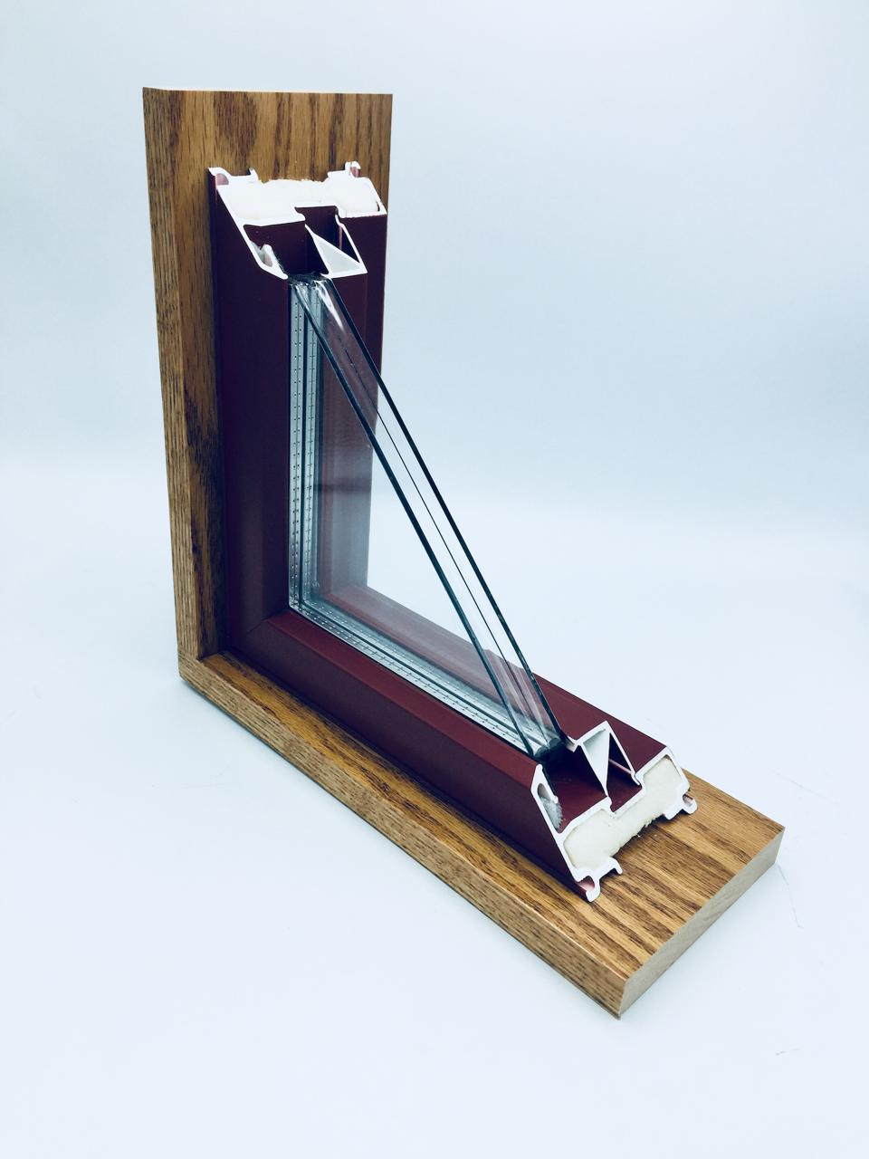 This is a cutout of a Thin Glass Triple window.