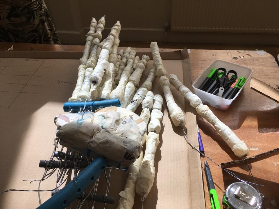 Limbs for a walrus skeleton sculpture