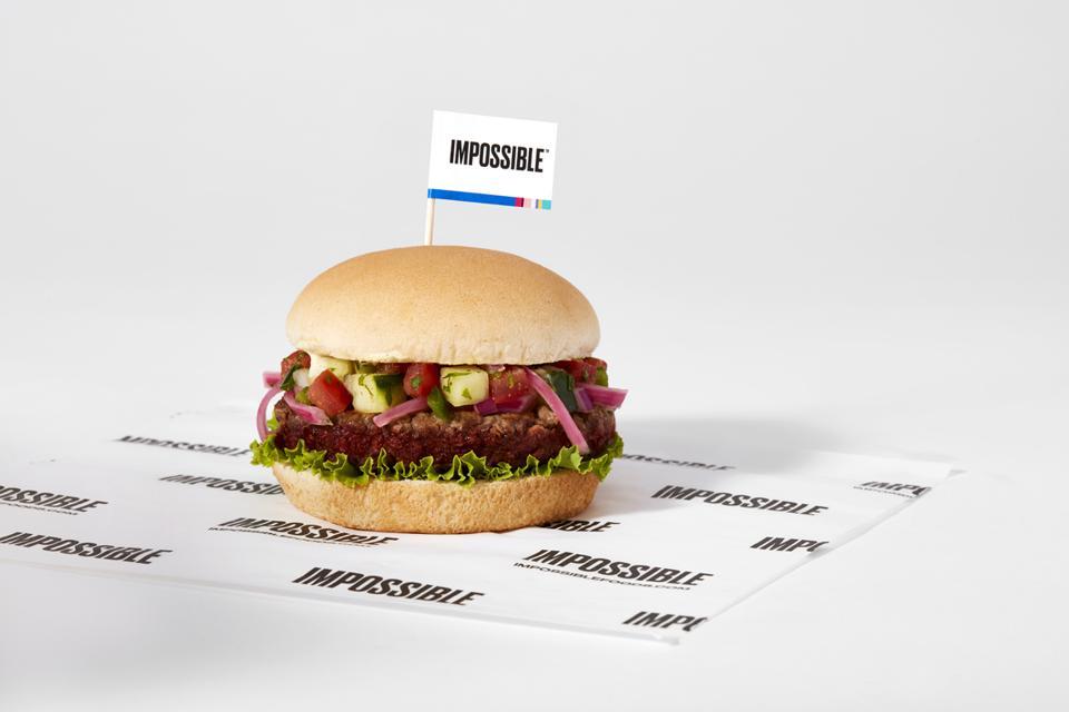 Sodexo's Tandoori Burger made from an Impossible Burger patty.