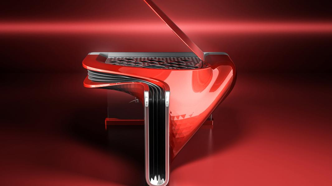 Exxeo Is A Sculptural Carbon Fiber Hybrid Piano, But With The Spirit Of The Motor Car