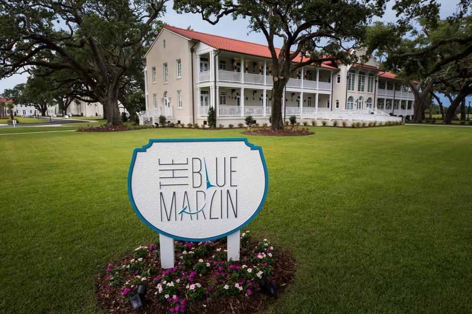 Blue Marlin restaurant at former VA hospital in Gulfport, Mississippi