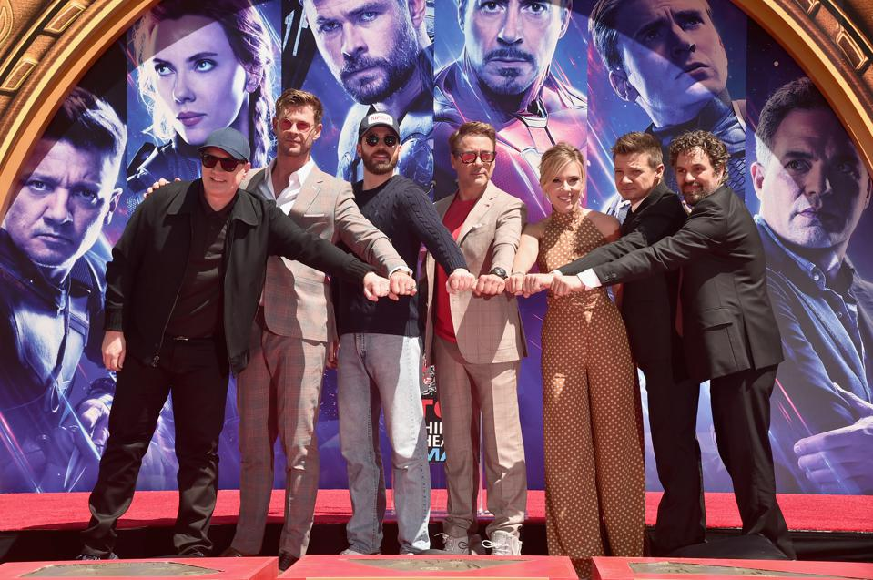 Marvel Studios' ″Avengers: Endgame″ Stars Place Handprints In Cement At TCL Chinese Theatre