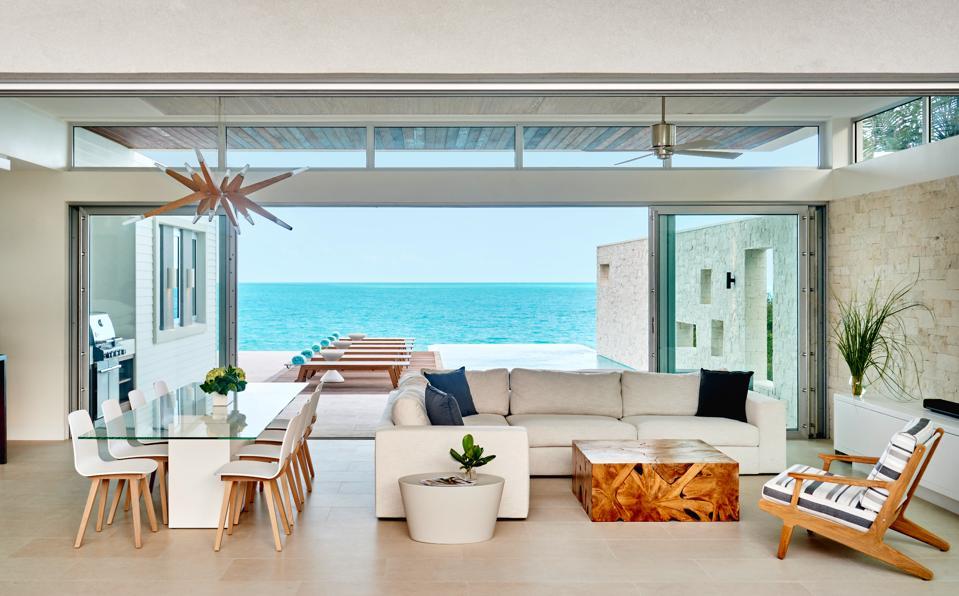 The living room at a Wymara villa
