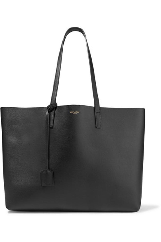 Saint Laurent Shopper Large Textured-Leather Tote