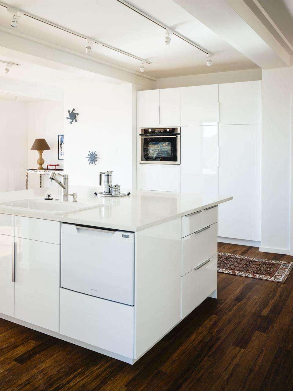 This Sonoma home has a dishwasher drawer making it easier to use than typical ones that open down.