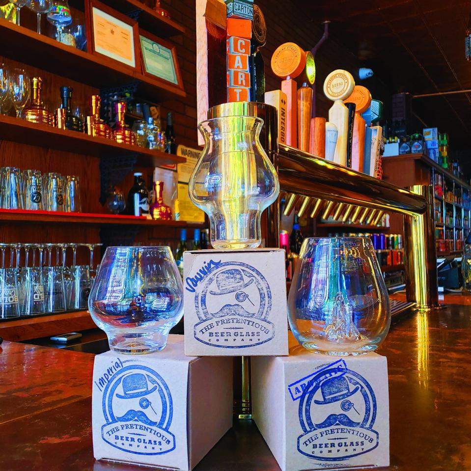 The High Gravity Set from Pretentious Glass Co. is a must have for any beer connoisseur that loves high alcohol brews.