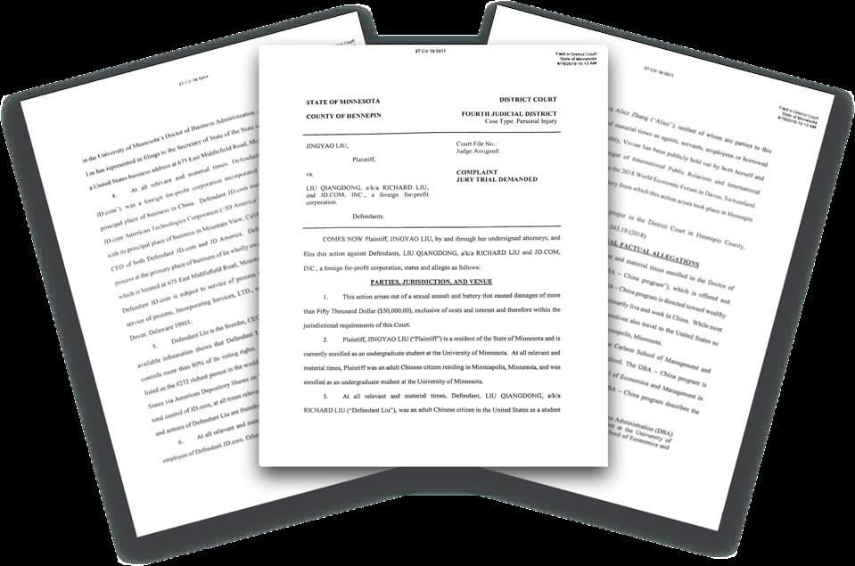 Richard Liu legal documents