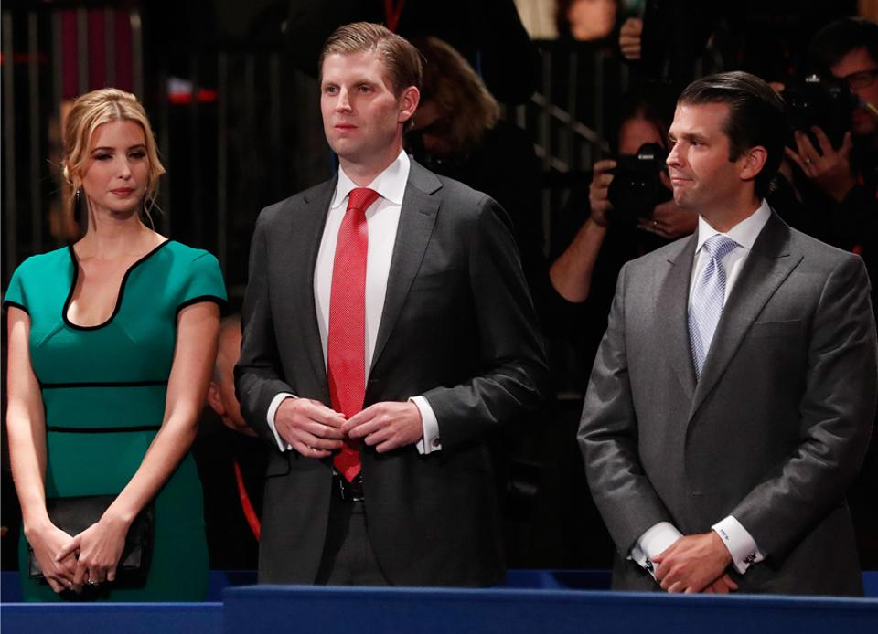 Ivanka, Donald Jr, and Eric Trump could lose $1.3 billion of their dad's fortune in taxes